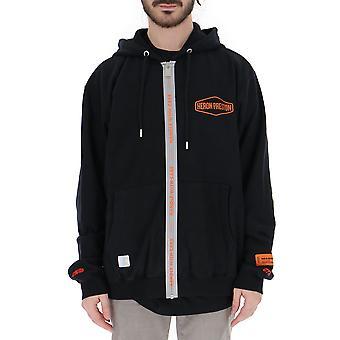 Heron Preston Black Polyester Outerwear Jacket