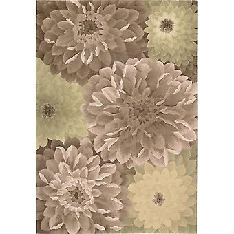 Tropics NOURISON TS11 Taupe Green  Rectangle Rugs Modern Rugs