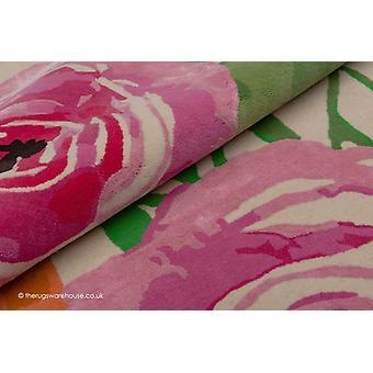 Bright Floral Pink Rug