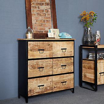 Maison Industrial Metal & Wood 6 Drawer Chest
