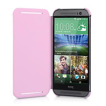 Official HTC One M8 Flip Case Pink