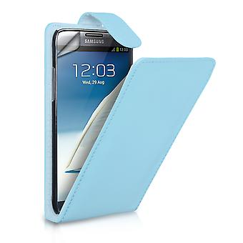 YouSave Samsung Galaxy Note 2 Leather Effect Flip Case  Light Blue