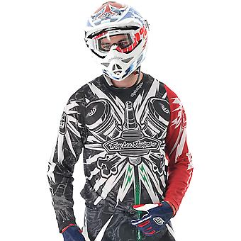 Troy Lee Designs Black-Red 2012 SE Piston MX Jersey