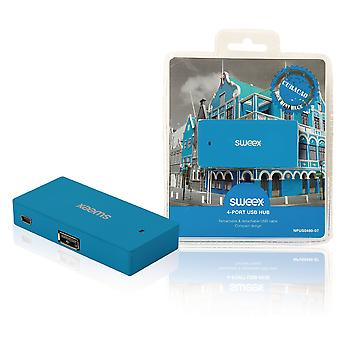 Sweex Curacao 4 Port USB Hub - Blue