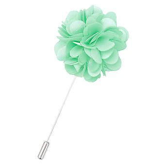 Mint grøn plain satin revers stift