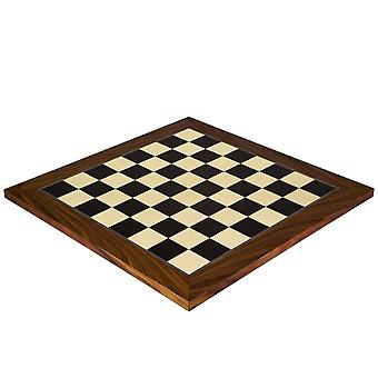17.75 Inch Black Anegre and Palisander Deluxe Chess Board