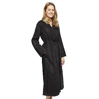 Cyberjammies 1343 Frauen's Nora Rose violett schwarz Check Baumwolle lange Robe