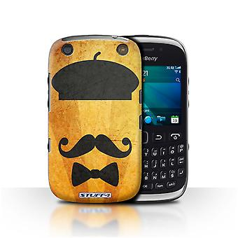 STUFF4 Case/Cover for Blackberry Curve 9320/Beret Hat/Retro Moustache