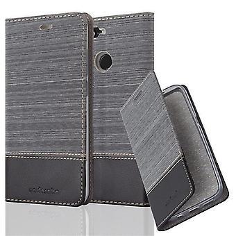 Cadorabo Hülle für Huawei Y6 PRO 2017 Case Cover - Handyhülle mit Magnetverschluss, Standfunktion und Kartenfach – Case Cover Schutzhülle Etui Tasche Book Klapp Style