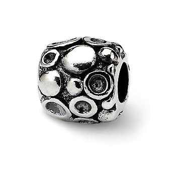 925 Sterling Silver Antique finish Reflections SimStars Dots Bali Bead Charm