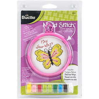 My 1st Stitch Find Your Wings Mini Counted Cross Stitch Kit-3