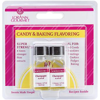 Candy & Baking Flavoring .125 Ounce Bottle 2 Pkg Sparkling Wine Flavor 0550
