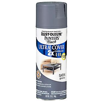 Painter's Touch Ultra Cover Satin Aerosol Paint 12 Ounces Granite Ptucs249 078