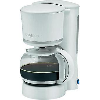 Coffee maker Clatronic KA3555 White, Silver Cup volume=8 Plate warmer