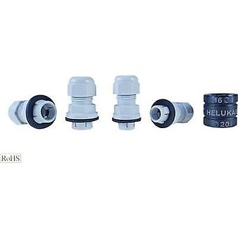 Cable gland M16 Polyamide Light grey (RAL 7035) Helukabel Helutop Easy 908054 1 pc(s)