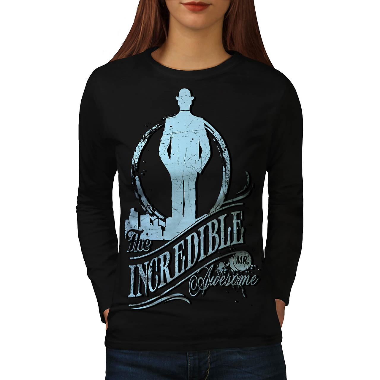 Incredible Mr Awesome Movie Hero Women Black Long Sleeve T-shirt | Wellcoda