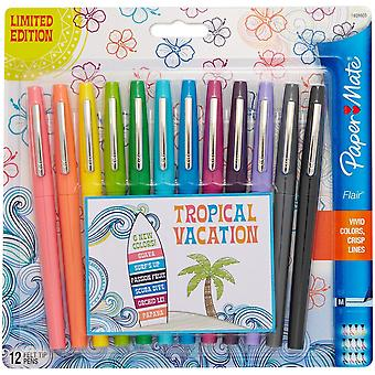 Paper Mate Flair Medium Felt Tip 12/Pkg-Tropical Vacation 1928605