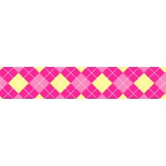 Tuff Lock 180cm Small Argyle Pink