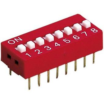 Diptronics DS-06V Multi DIP Switch 6-pole (not switched) 100 mA/50 V/DC, (switched) 50 mA/24