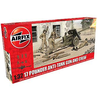 Airfix 1/32 skala 17 Pouder anti-tank kanon og besætning