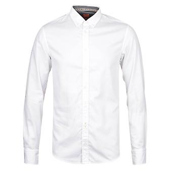 BOSS Orange Epidoe White Long Sleeve Shirt