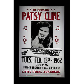 Patsy Cline Retro Concert Poster