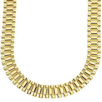 Iced out hip hop bling chain - LINK 15mm gold