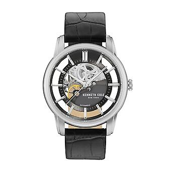 Kenneth Cole New York Herren Uhr Armbanduhr Leder KC15116001 Automatik