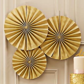 Pastel Perfection - Circle Fan Decorations - Gold r