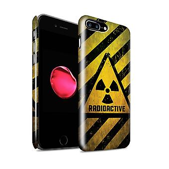 STUFF4 Gloss Hard Back Snap-On Phone Case for Apple iPhone 7 Plus / Radiation Design / Hazard Warning Signs Collection