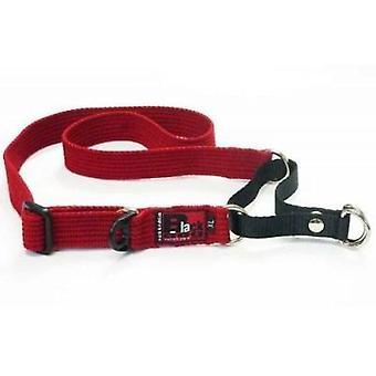 Opleiding van de zwarte hond kraag 49-68 XLg rood