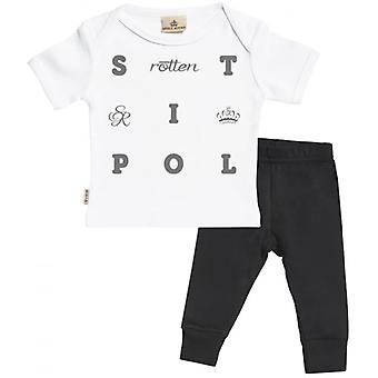 Spoilt Rotten S Text Baby T-Shirt & Baby Jersey Trousers Outfit Set