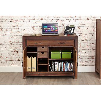 Mayan Walnut Hidden Home Office Brown - Baumhaus
