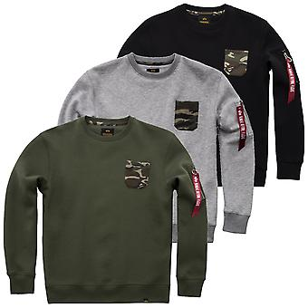 Alpha Industries Sweater Camo Pocket