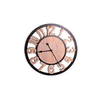 60CM WOODEN CUT OUT WALL CLOCK NUMBERS HOME KITCHEN OFFICE