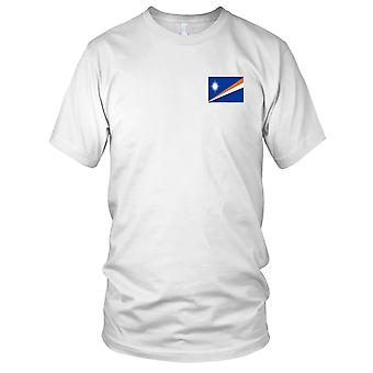 Marshalløerne land nationale Flag - broderet Logo - 100% bomuld T-Shirt damer T Shirt