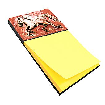 Shadow the Horse in Red Refiillable Sticky Note Holder or Postit Note Dispenser