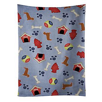 Carolines tesoros BB4080KTWL perro casa colección Dachshund rojo toalla de cocina