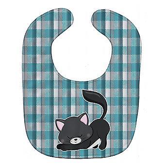 Carolines schatten BB6881BIB beetje zwarte kat Kitten Baby slabbetje