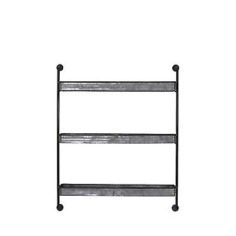 Light & Living Wall Rack 3 Layers 84,5x19,5x104 Cm ANEGADA Zinc
