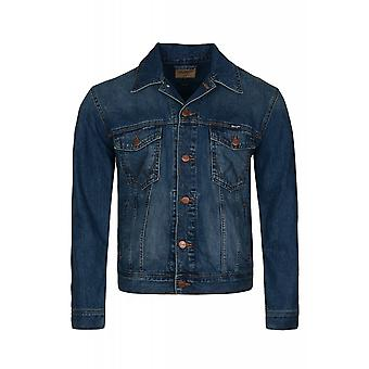 Wrangler classic jacket jacket men's denim-Blau denim jacket