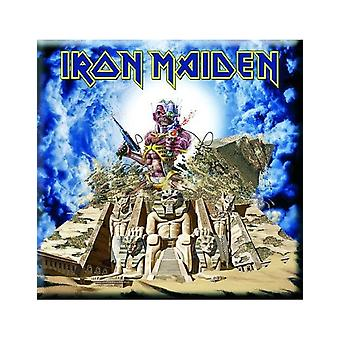 Iron Maiden Fridge Magnet Somewhere Back in Time new Official 76mm x 76mm