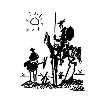 Don Quijote - Pablo Picasso Poster Plakat-Druck