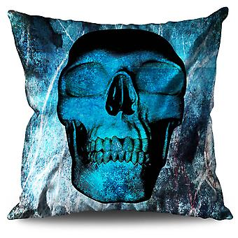 Dark Metal Death Skull Linen Cushion Dark Metal Death Skull | Wellcoda