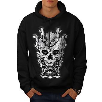 Horror de Illuminati Skull hombres BlackHoodie | Wellcoda