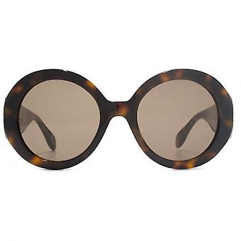 Alexander McQueen Edge Super Round Sunglasses In Havana