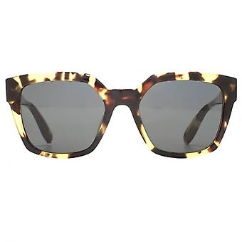 Alexander McQueen Edge Square Sunglasses In Havana Green