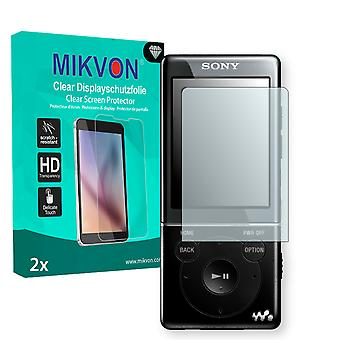 Sony NWZ-E474 Screen Protector - Mikvon Clear (Retail Package with accessories) (intentionally smaller than the display due to its curved surface)