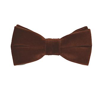 Luxury Walnut Brown Velvet Bow Tie
