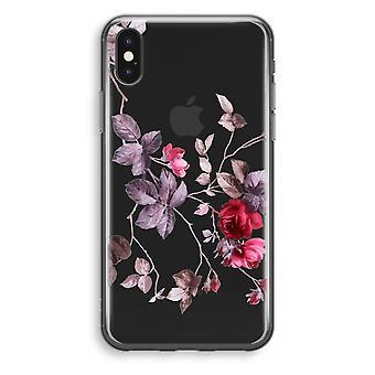 iPhone X Transparant Case (Soft) - Pretty flowers